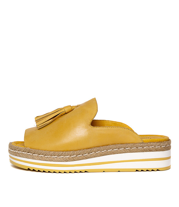 AYDEN Yellow Leather