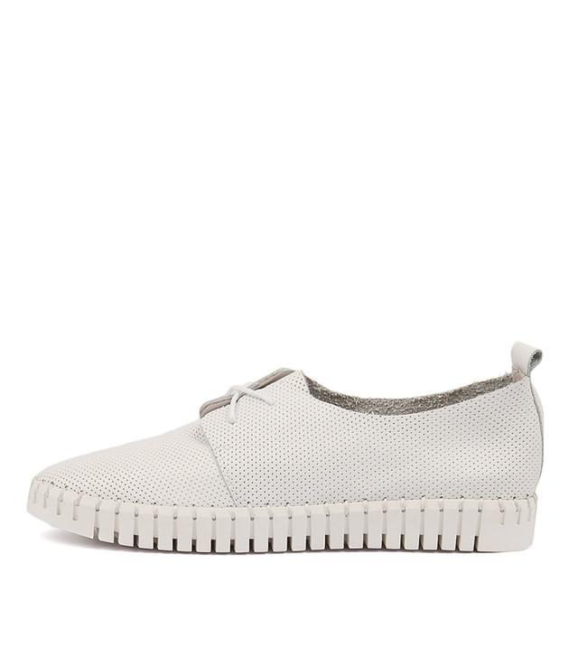HALBERT White Leather