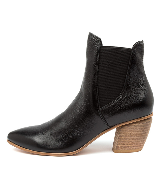 JINKS Black Natural Heel Leather