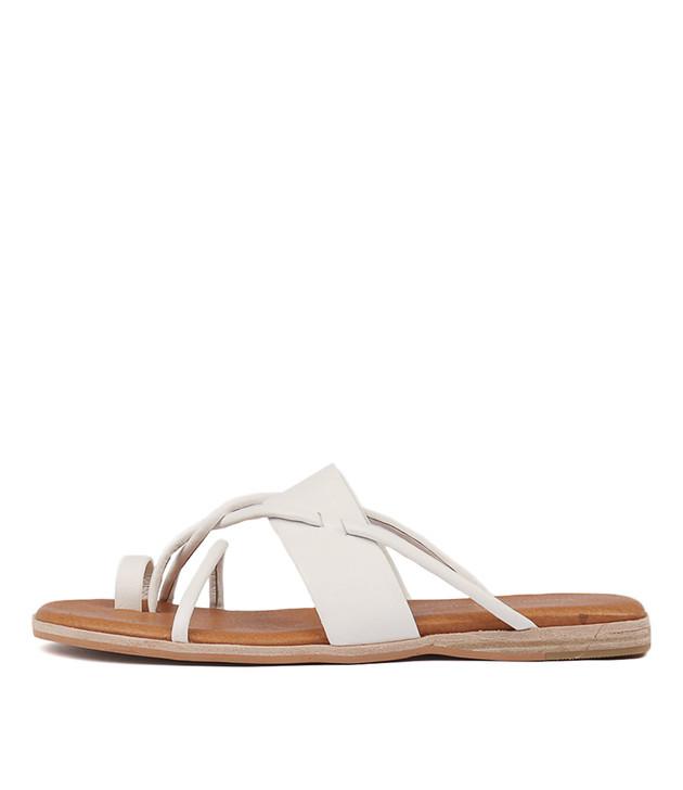 TANIELA White Leather