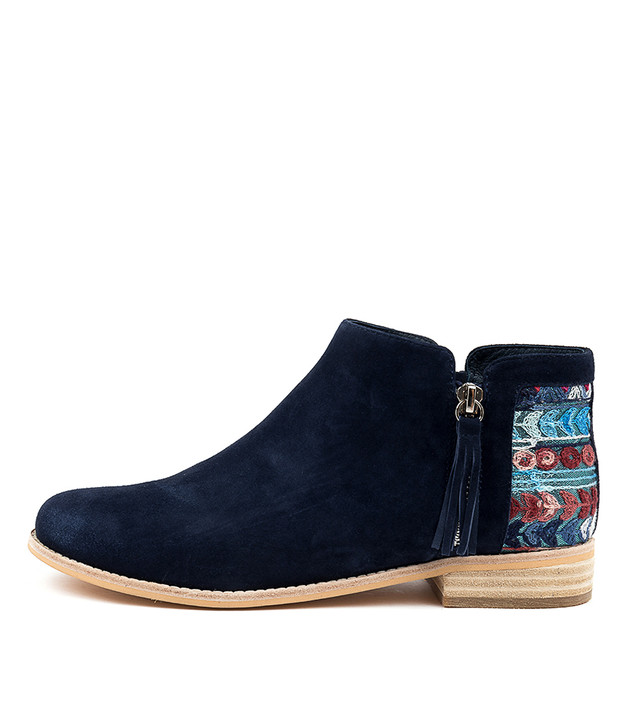 ABRIELLERS Navy Navy & Navy Suede