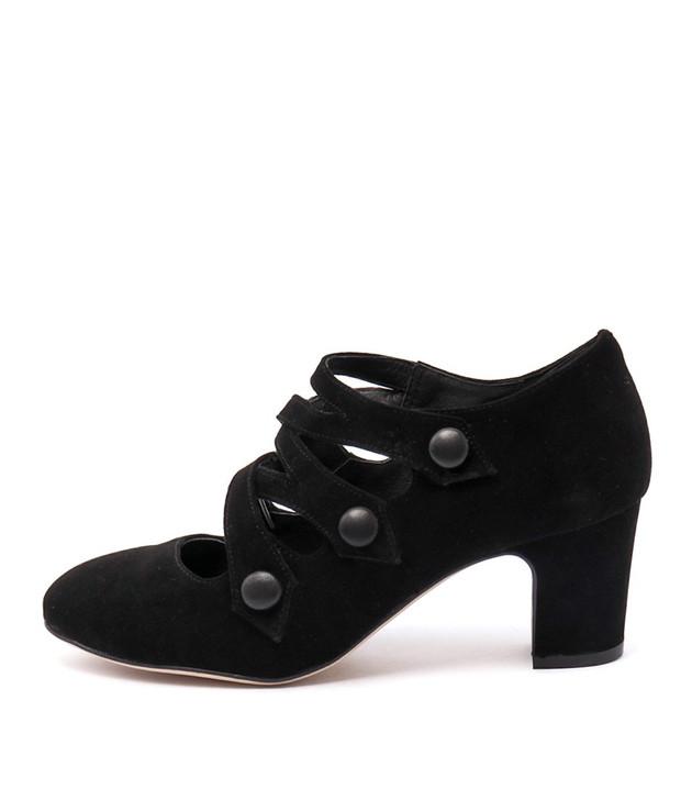 EMELDA Black-Black Suede