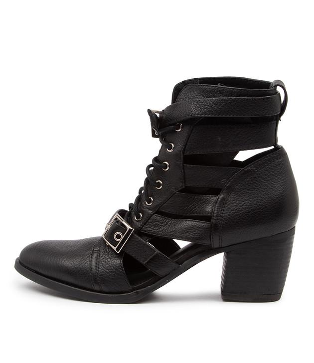 BRYON Black-Black Heel Leather
