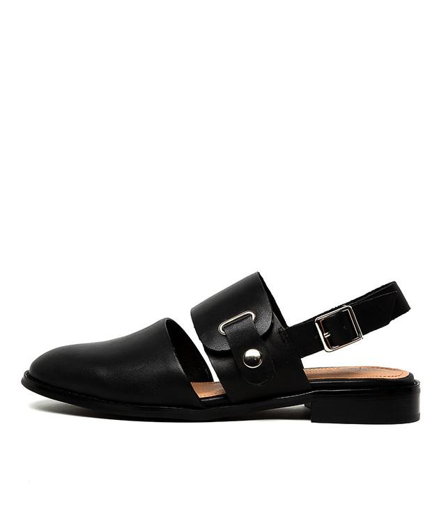 LEISHA Black Leather