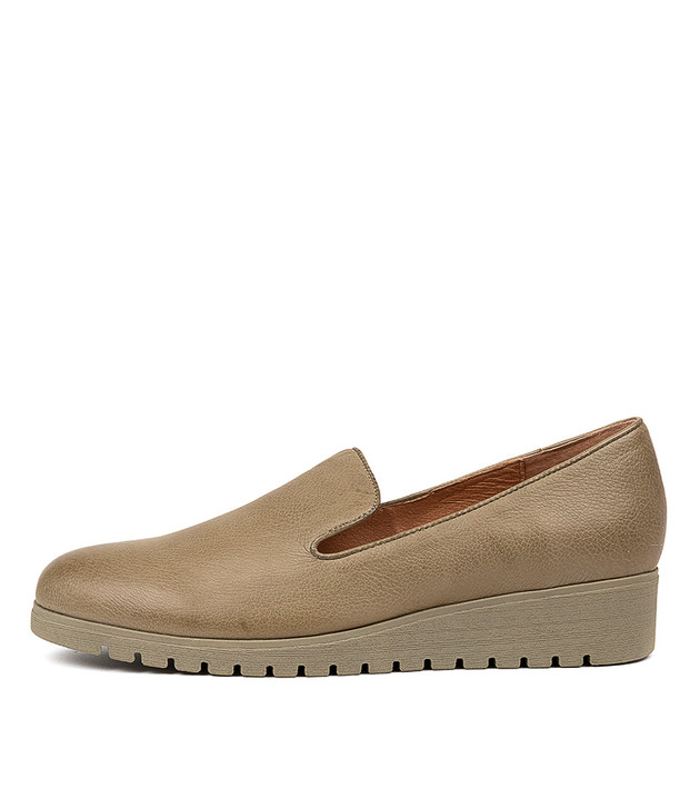 NANNETTE Khaki-Khaki Sol Leather