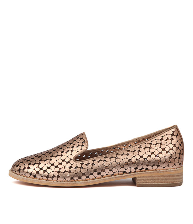 ARNOLD Rose Gold-Nude Leather