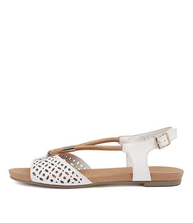 JOBINASS White-Tan Leather