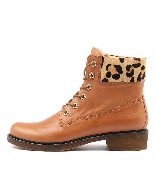 OCTAVE Dk Tan-Ocelot Leather
