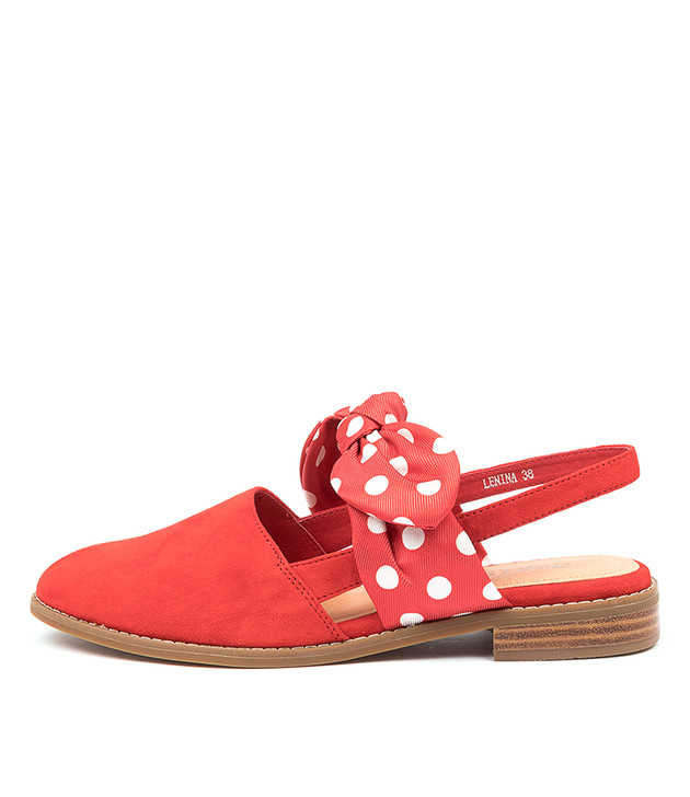 LENINA Red-Red Spot Multi Suede
