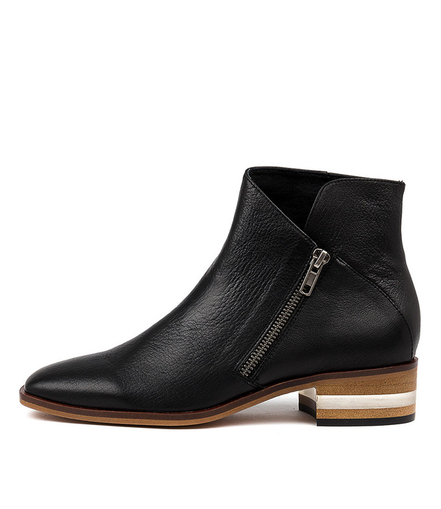 FELEZIE Black-Natural Heel Leather
