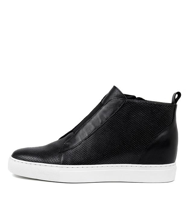 GLENNA Black-White Sole Leather
