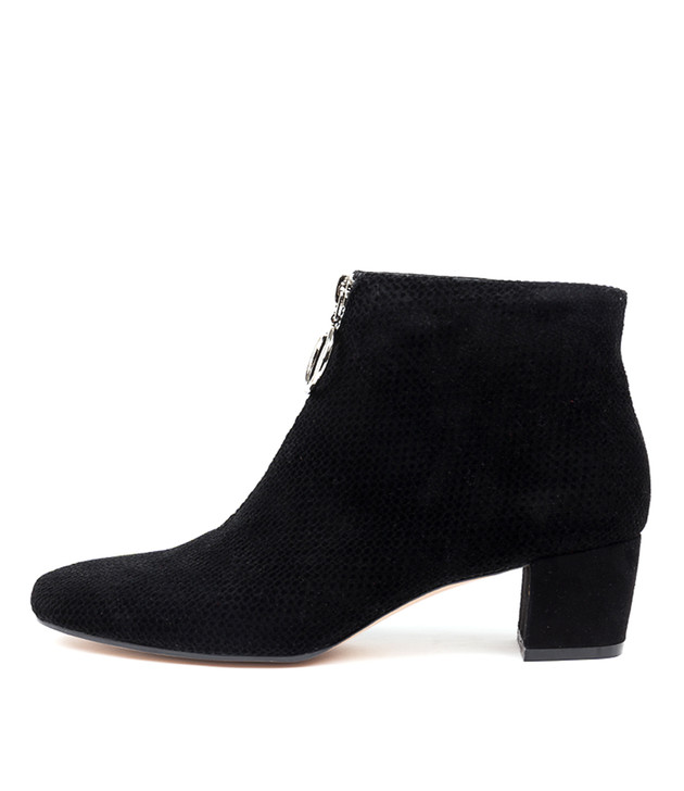 HARDIES Black Dot-Black Suede