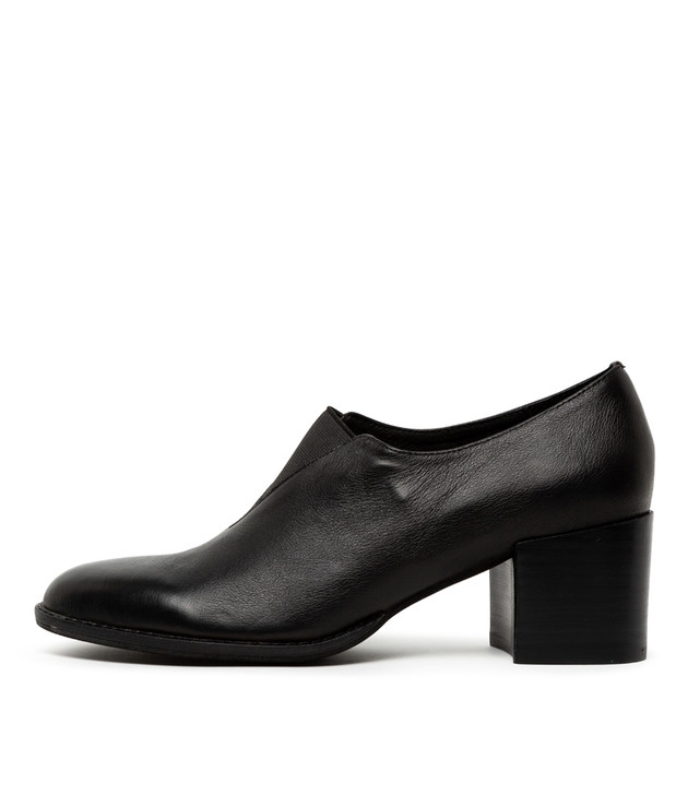 MANERVA Black-Black Heel Leather