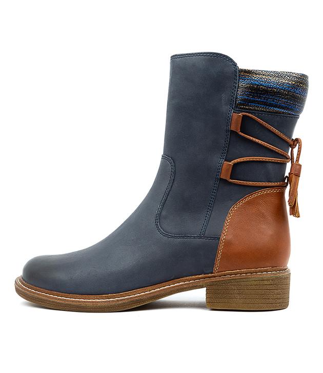 OSWALD Navy Leather