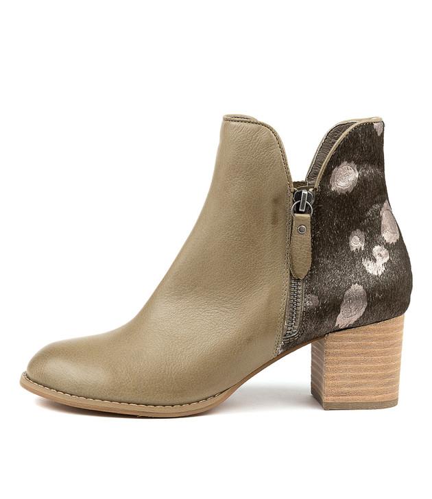 SHIANNELY Khaki-Khaki&Pew Leather