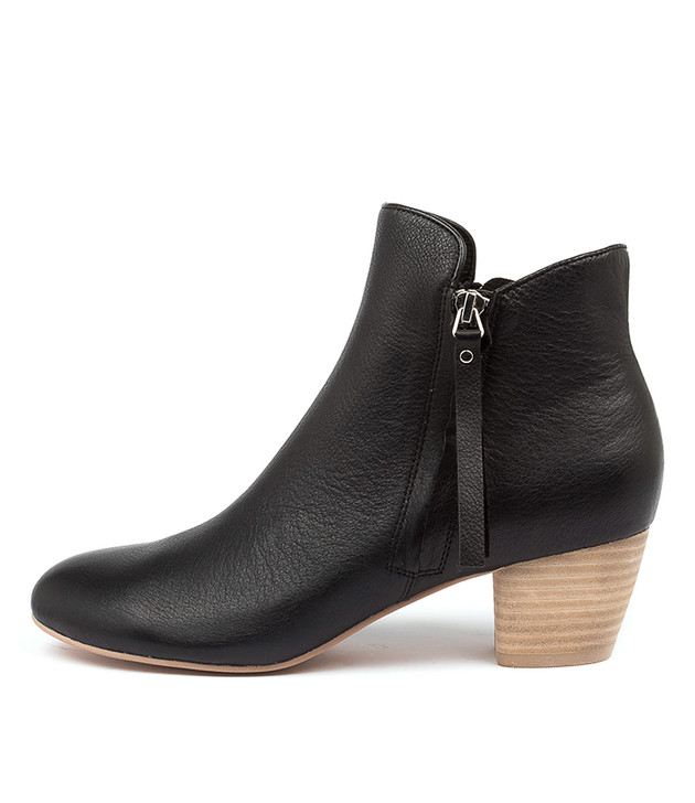 DEMANSE Black-Natural Heel Leather