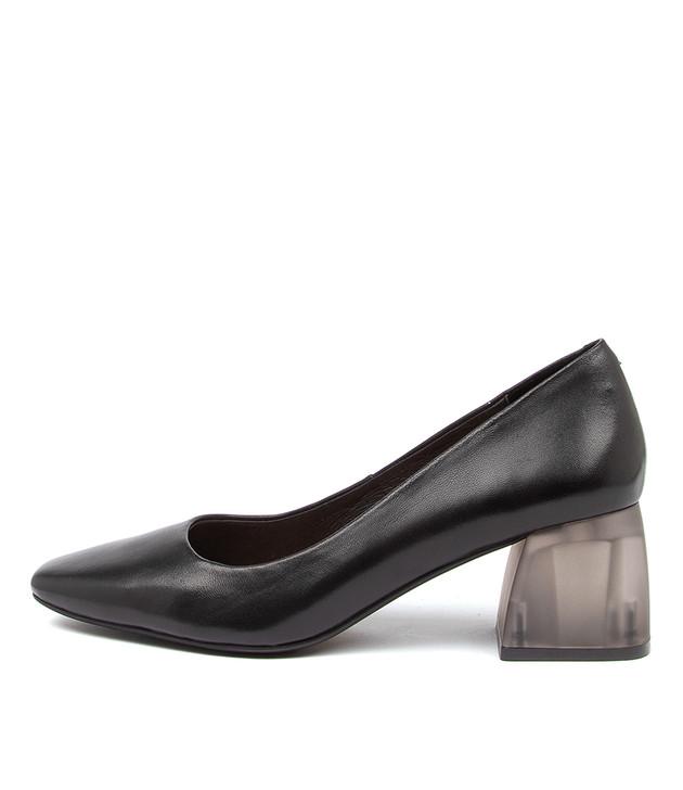 MARNI Black-Black Heel Leather