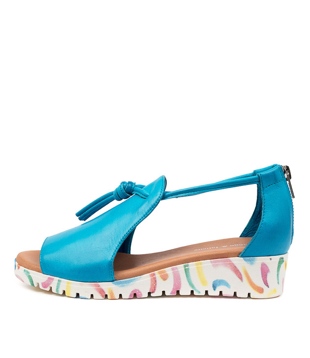 MELVIN Turquoise Leather/ Curl Sole