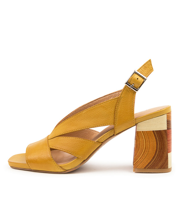 RYANNE Yellow Leather