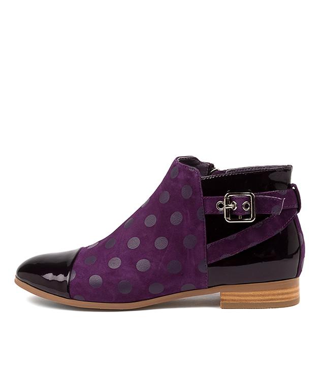 JESIE Purple Suede/ Patent Leather