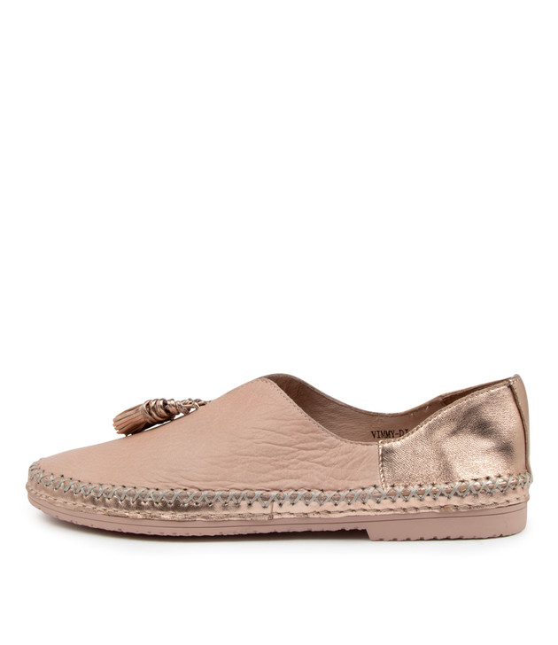 VIMMY Pale Pink Leather
