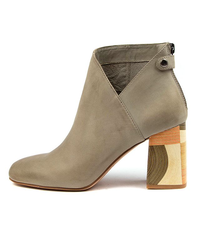 YOLLY Khaki Leather