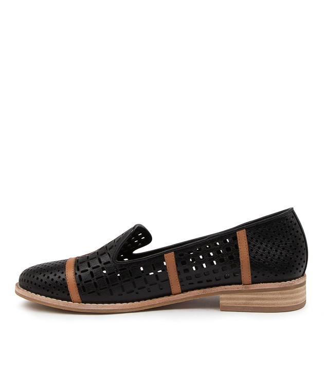 ALYCIA Black/ Tan Leather