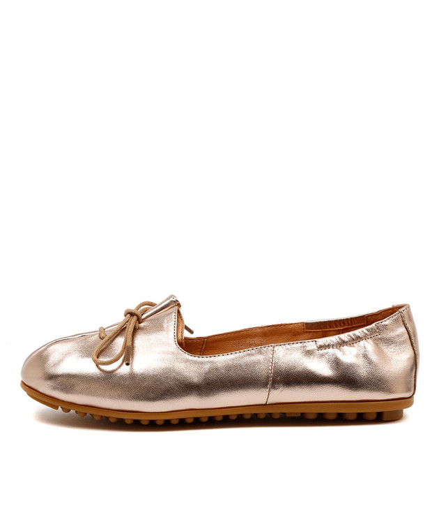 BALLAD Flats Rose Gold Leather