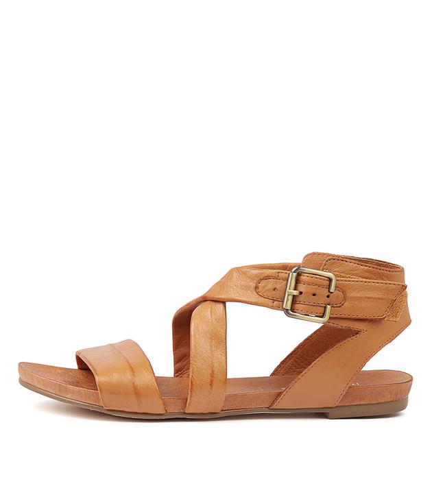 JOBBY Sandals Tan Leather