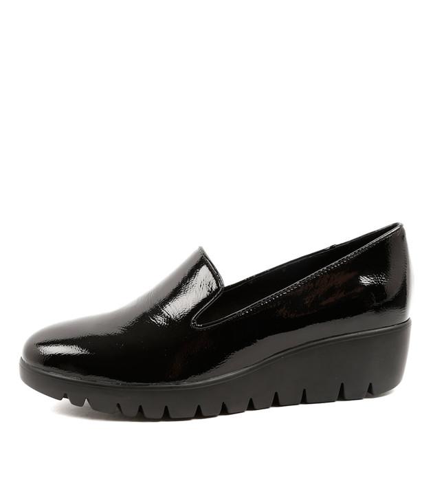 ZAMBA Sandals Loafer Black Patent Leather