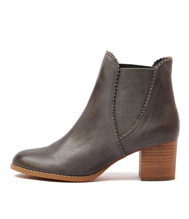 SADORE Ankle Boots in Dark Grey Leather