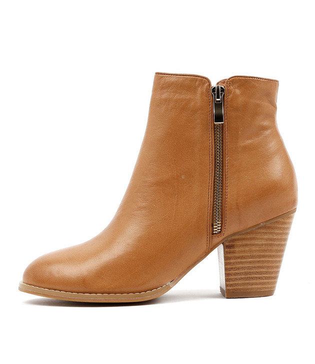 ROBYS Boots  Dark Tan Leather