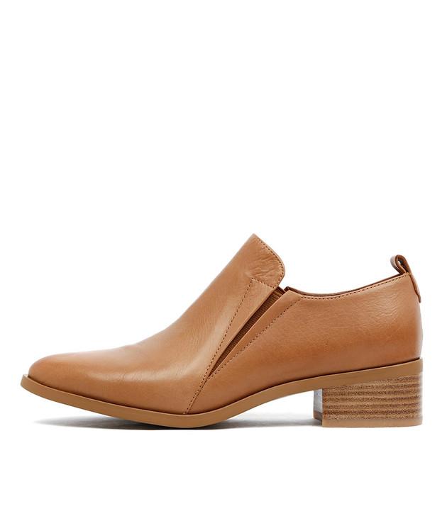 PACO Heels Dark Tan Leather