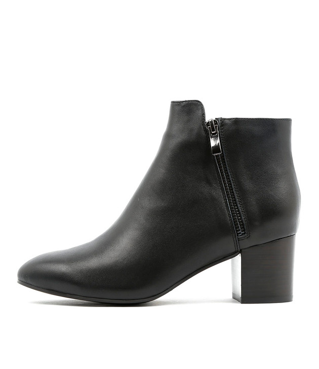 RALLO Ankle Boots in Black Leather