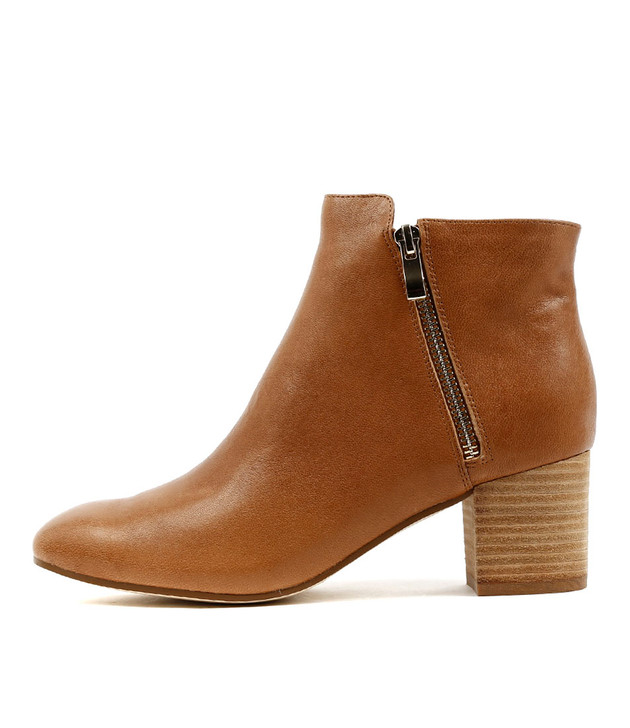 RALLO Ankle Boots in Tan Leather