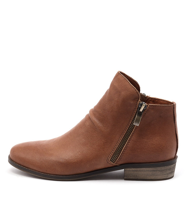 SPLIT Boots Tan Leather