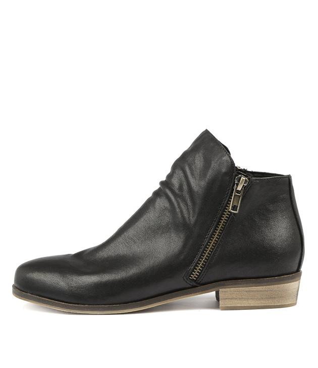 SPLIT Boots Black Leather
