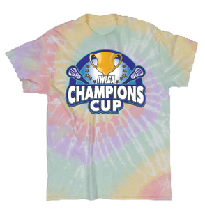 Official IWLCA Champions Cup Legend Tie Dye t shirt