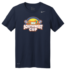 Official IWLCA Southwest Cup Nike Dri Fit Tee - color Navy