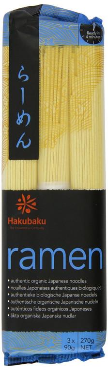 """HAKUBAKU"" ORGANIC RAMEN NOODLES 270G (8)"