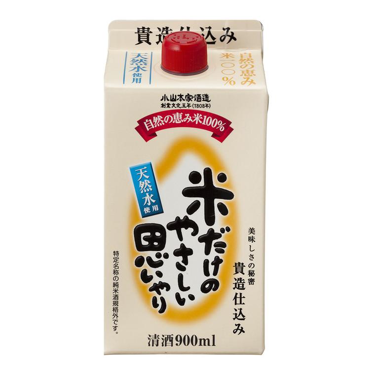 """""""KOYAMA HONKE"""" KOME DAKE NOYASASHII OMOIYARI PACK 14.5% 900 ML(6)"""