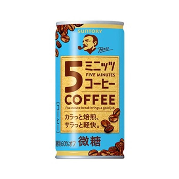 """SUNTORY"" BOSS FIVE MINUTES COFFEE 185G(30)"