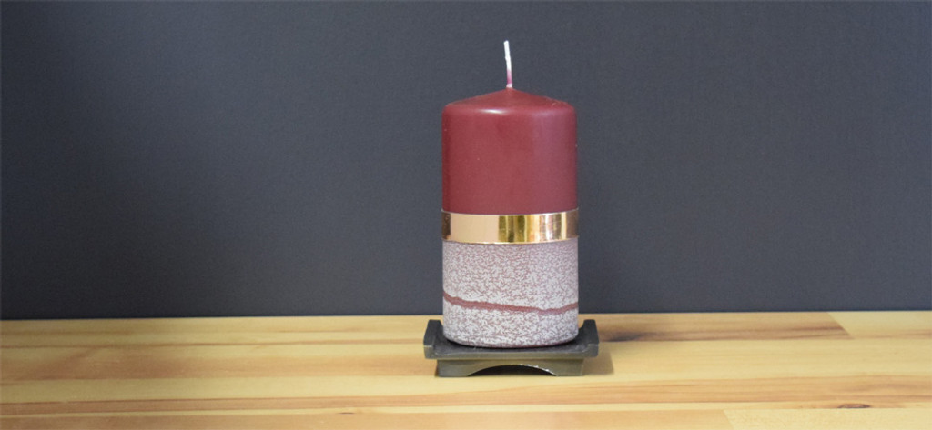 Unscented Bordeaux pillar candle