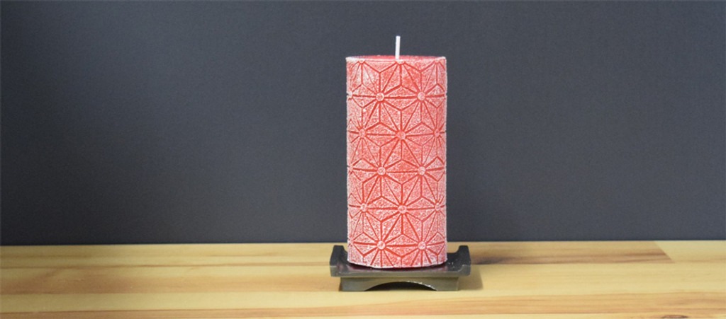 Unscented Red Pillar Candle