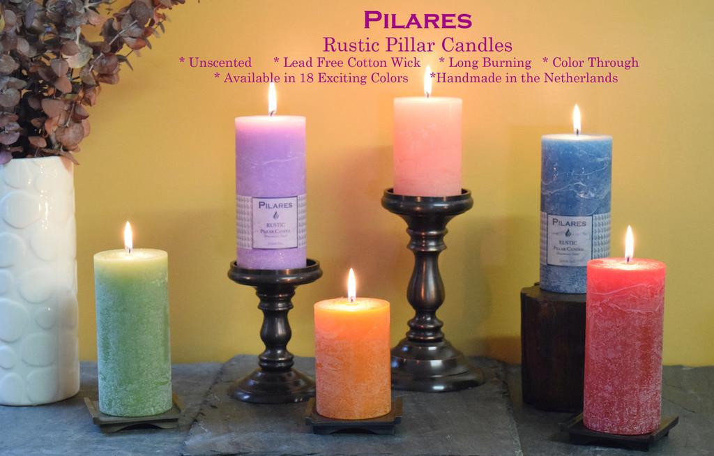 "Pilares Rustic Pillars - Size: 2.75"" x 6"" (Price per pair)"