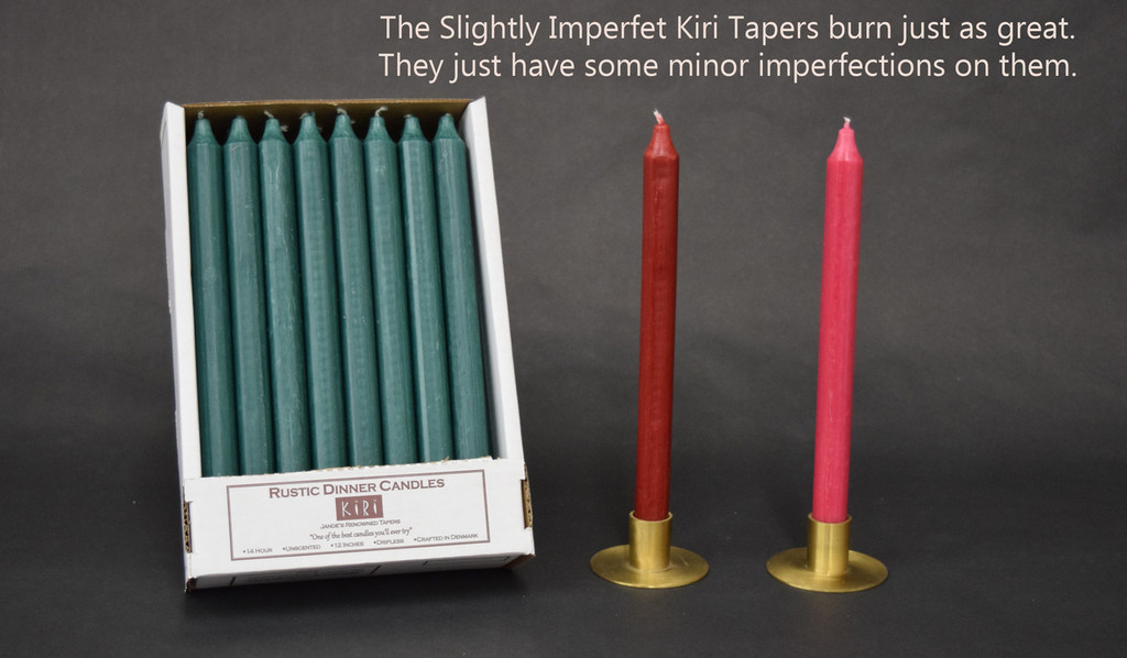 """12"""" Slightly Imperfect Kiri Tapers - Box of 24 per color"""