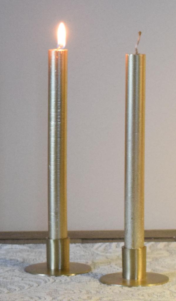 Metallic Taper Candles / Set of 6