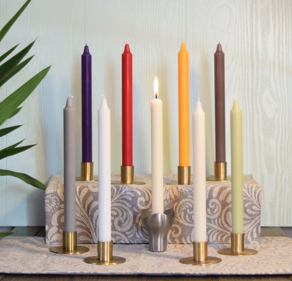 """11"""" Eco-Friendly Stearin Taper Candles  (Box of 12 per color)"""