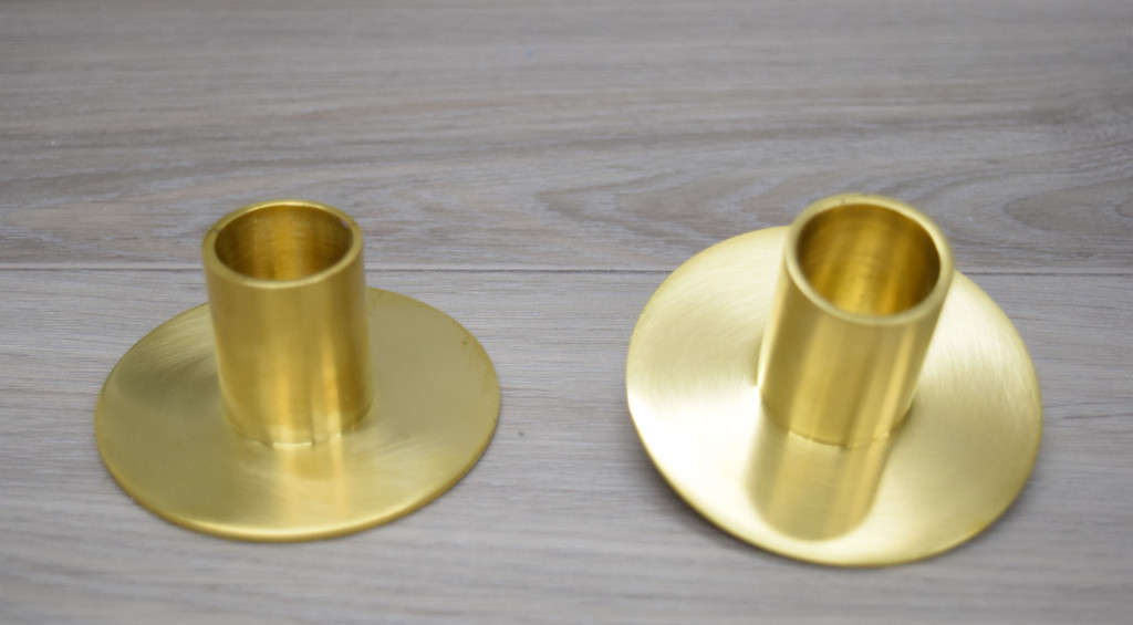 Solid Brass Taper Holders (Case 2 + Two free Danish Tapers included)