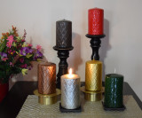 Holidays pillar candles
